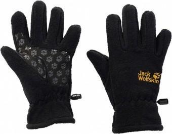 Jack Wolfskin Kids Fleece Glove, black, Größe 152