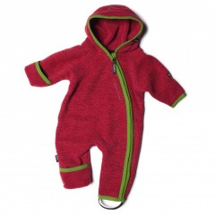 ISBJÖRN of Sweden Rib Jumpsuit high risk red - Größe 56/68 Kinder