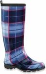 Kamik Caroline Rain Boots checkered