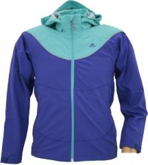 Adidas Girls Softshell Hoody prime inkblue/ultra green - Größe 164 Kinder