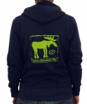 Unterwegs Earthpositive Womens Pullover Hood mit Retro Elch