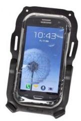 Ortlieb Smartphone-Case mit Lenkerhalterung transparent-schwarz