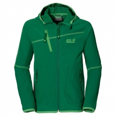 Jack Wolfskin Rock Me Softshell Jacket Boys cucumber green - Größe 164 Kinder