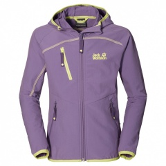 Jack Wolfskin Rock Me Softshell Jacket Girls wisteria - Größe 164 Kinder