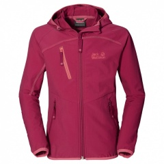 Jack Wolfskin Rock Me Softshell Jacket Girls azalea red - Größe 164 Kinder